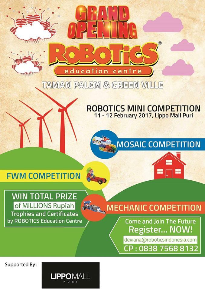 Waralaba Robotics Education Center Siap Grand Opening Dua Outlet