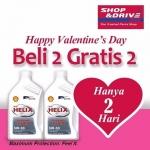 Promo Hari Valentine Shop&Drive, Untuk Pembelian Produk Pelumas dan Aki Mobil