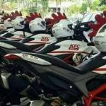 Bak Parlente, Motor Ducati Jadi Tunggangan Delivery Order KFC Ke Pelanggan