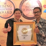 DAILY FRESH WATER Sabet Penghargaan Rising Business Award 2017
