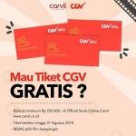 Belanja Produk Carvil di Website, Gratis 1 Voucher CGV