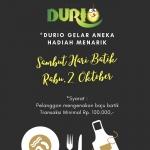 Jajan Pakai Baju Batik, Dapat Hadiah dari Sop Durian Durio Loh